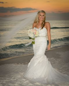 What a stunning portrait? #DestinBeachPhotography #DestinWedding #EmeraldCoastWedding #DestinFL #SunsetWeddingPortraits