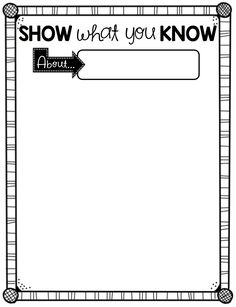 Loved That Lesson!! {Show What You Know}