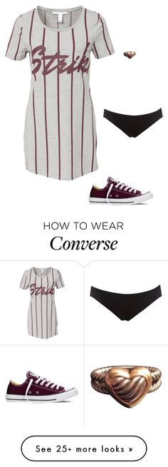 """Untitled #3291"" by gone-girl on Polyvore featuring NLY Trend, Linea by Maidenform, Converse, David Yurman, women's clothing, women, female, woman, misses and juniors"