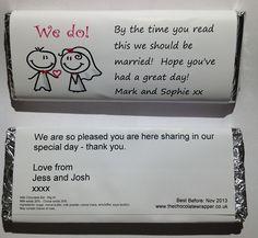 Wedding Personalised Chocolate Bar 1 80 Personalise