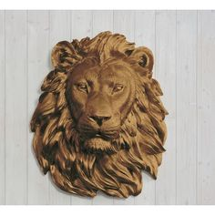Saharan Faux Taxidermy Lion Head Wall Décor