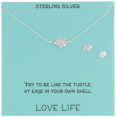 Sterling Silver Turtle Necklace and Earrings Jewelry Set, 18' *** Check out the image by visiting the link.