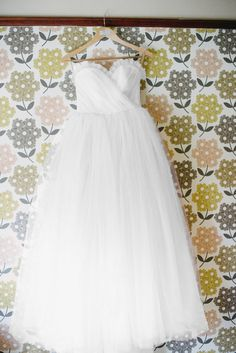 White Tulle Wedding Dress Vintage Style Ball Gown by AvailCo