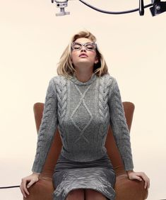 Gigi Hadid made a luxe vision in a cable knit sweater for Max Mara's fall-winter 2015 campaign.
