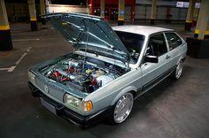 Gol GL 1991 aro 17 e motor preparado com Turbo e Nitro - Alê preparou o motor do carro com Turbo e Nitro para o seu cliente, agora ele o comprou para uso diário. Confira!