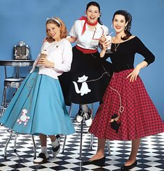 50's costume ideas. minus the poddles on the skirts.