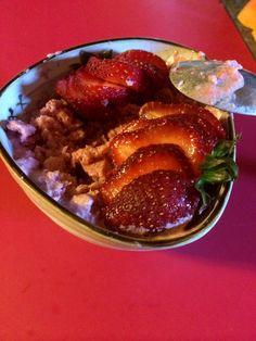 Sorbete de fresas ,yogurt y Stevia! 09/08/14