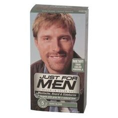 Just For Men Mustache and Beard, Brush-In Color Gel, Dark Blond/Lightest Brown, 1 Kit, (Pack of 3). #beauty, #skincare, #hair #color, #style