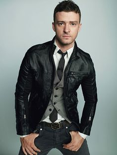 Justin Timberlake interesting photo perspective; fantastic outfit