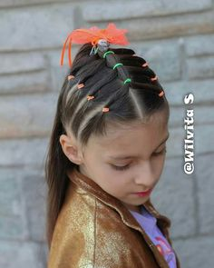 - My list of the most creative hairstyles Girls Hairdos, Lil Girl Hairstyles, Princess Hairstyles, Weave Hairstyles, Wacky Hair Days, Crazy Hair Days, Creative Hairstyles, Toddler Hair, Long Hair Styles