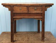 ALTAR TABLE CHINESE JAPANESE 18th CENTURY - Antiques Atlas Basket Drawers, Storage Baskets, Antique Chinese Furniture, Sofa Side Table, Solid Oak, Altar, 18th Century, Entryway Tables, Hardwood