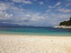 Emblissi Beach, Fiskardo, Kefalonia, Greece. Pine Forest, Greece, Backdrops, Island, Architecture, Beach, Water, Outdoor, Greece Country