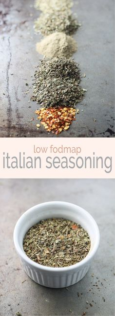 Low FODMAP Italian Seasoning - Low FODMAP Italian Seasoning EASY Low FODMAP Recipes Add classic flavor to meatballs, spaghetti and more with this low fodmap Italian seasoning recipe - no garlic or onion needed! Seasoning Recipe, Seasoning Mixes, Italian Seasoning, Fodmap Recipes, Healthy Recipes, Fodmap Foods, Free Recipes, Vegetarian Recipes, Celiac Recipes