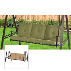 Replacement Cushion for 3 Person Swing - Beige  sc 1 st  Pinterest & Mainstays Lawson Ridge 3-Person Swing Replacement Canopy | For the ...