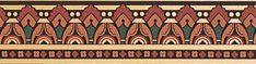 Victorian Home Design Wallpaper | Apricot Quentin Wallpaper Border