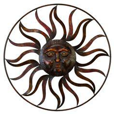 DecMode Iron Celestial Sun Wall Sculpture - 97917