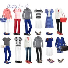 Red, White & Blue capsule wardrobe