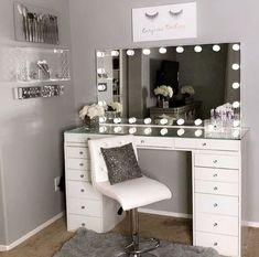 Beauty Room Decor, Makeup Room Decor, Makeup Storage Furniture, Room Ideas Bedroom, Bedroom Decor, Glam Room, Cute Room Decor, Teen Girl Bedrooms, My New Room