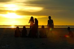 Waiting Sunset At Tanjung Pendam Beach Belitung, Waiting, Celestial, Sunset, Beach, Outdoor, Sunsets, Outdoors, Seaside