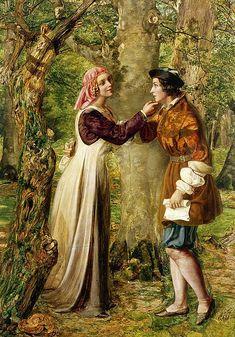 "Edward Rainford (British fl.1850-1864), ""Celia Telling Rosalind that Orlando is in the Forest"" | Flickr - Photo Sharing!"