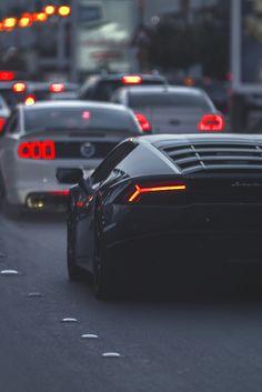 "lvxeware: "" Ford Mustang followed by a Lamborghini Huracan | Instagram """