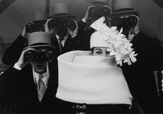 Givenchy Hat, Paris 1957. Frank Horvat and Bettina Graziani.