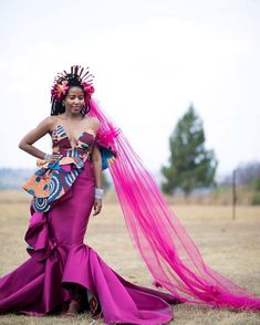 This Fashion Designer Got Married In The Most Unconventional Wedding Dress We've Ever Seen - FPN African Traditional Wedding Dress, Traditional Wedding Attire, Traditional Dresses, Traditional Weddings, African Wedding Attire, African Attire, African Dress, African Weddings, African Style