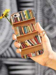 Give your iPhone 6 & cell phone a unique style all its own. This Bookshelf - Book Lover as professionally created and printed in the United States for you readers out there! Textured printing raises parts of the images, creating a unique feel like no o Objet Wtf, Book Lovers Gifts, Book Gifts, Iphone Phone Cases, Book Phone Case, Phone Covers, Iphone 6 Plus Case, Book Nooks, I Love Books