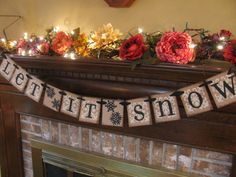Christmas Banner Winter Garland Let it by inspirationalbanners, $20.00
