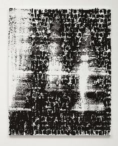 Figure #14, 2009, Acrylic, silkscreen and coal dust on canvas, 60 x 48 inches (152.4 x 121.9 cm)