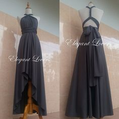 Convertible Dress Wedding Dress Grey Bridesmaid Dress Infinity Dress Wrap Dress…