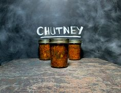 Sweet and tangy East Indian inspired green tomato chutney with an exotic, aromatic finish.