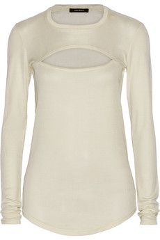 Isabel Marant Seashell cutout silk-jersey top | THE OUTNET