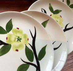 Dixie Dogwood Set of Four Bread and Butter by putnamandspeedwell