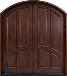Mahogany Solid Wood Front Door - Double