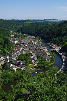Vianden from the chairlift, Luxembourg. I loved the ride, the view, and beautiful Vianden!