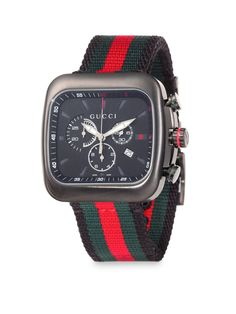 64d7b639542 Men s Red Coupé Chronograph Watch. Lyst. Gucci ...