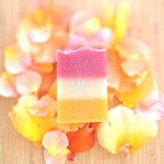 Blood Orange & Rose Shea Butter Soap - all natural - by Naiad Soap Arts - $5.50