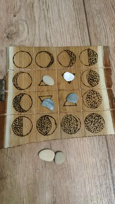 Crystal Grid with moon phases and elements  altar tile .