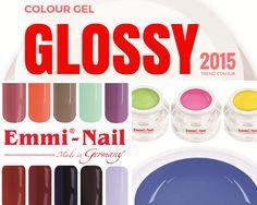 Glossy #Colour #Gel #emminail per #ricostruzione #unghie