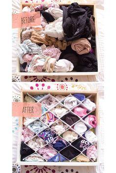 This REVOLUTIONARY underwear drawer sorter (atypicalpea.com)