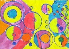46_FORMES GEOMETRIQUES_A partir deJoie de vivre de Delaunay (cadrée2) Art Plastique, Tour, Creations, Galette, Kid Crafts, Joy Of Life