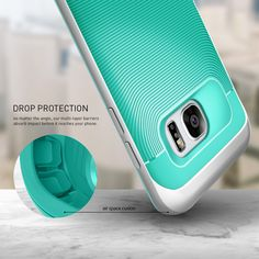 Caseology® Galaxy S7 Edge case [Wavelength Series] [Turquoise Mint]