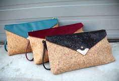 Faux Leather and Cork Sophia Clutch - Vegan Cuts  http://vegancuts.com/offer/pixie-mood-faux-leather-and-cork-sophia-clutch