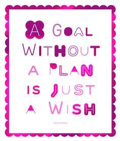 Plan vs Wish