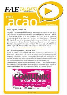 Talento News - setembro 2008