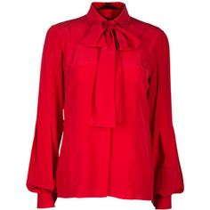 Gucci Red Button Down Blouse M