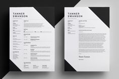 Resume/CV - 'Tanner' on Behance