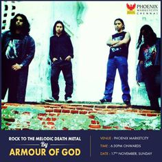 Rock to the melodic Death Metal by Armour of God on 17 November 2013 at Phoenix Marketcity, Velachery   Events in Chennai   mallsmarket.com
