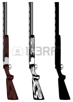 illustration huntings rifle colored, black and white, silhouette photo Hunting Signs, Hunting Rifles, Shotgun Tattoo, Camo Cookies, Shotgun Shell Crafts, Silhouette Photo, Steampunk Weapons, Hype Wallpaper, Wood Burning Patterns